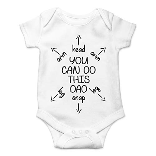 You Can Do This Dad - First Time Dad Gift - Funny Cute Infant Creeper, One-Piece Baby Bodysuit (White, Newborn)