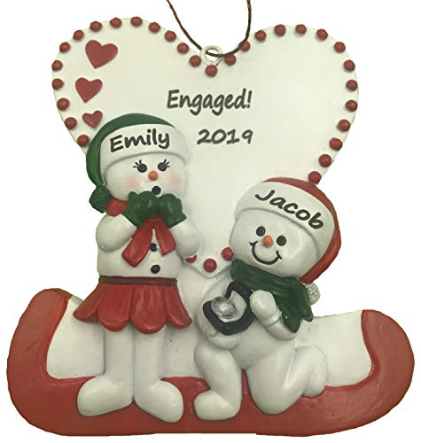 Personalized Engagement Christmas Ornament 2020