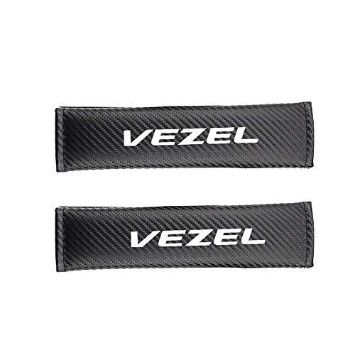 AIPOLE Coche Almohadillas CinturóN De Seguridad para Vezel, CarbóN Fibra Protector De CinturóN Suave CóModa Protectores De Hombro Cobertores Auto Accesorios 2 Pcs