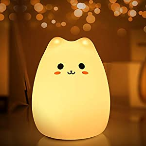 Night Lights for Kids, MOKOQI Baby Night Light Lamp for Bed [ BPA-Free Silicone, Breakage Resistant, Eye Caring LED, Muilti-Color, Touch Control ]