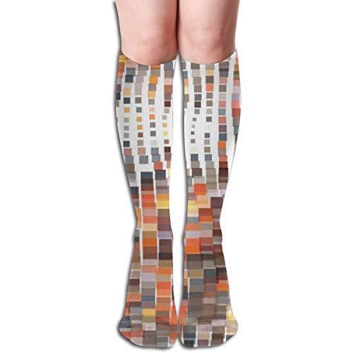 Bert-Collins Ilustración de vector ondulado mosaico en poliéster calcetines de píxeles para correr, atlético, viajes, uso diario, calcetines para mujeres y hombres