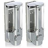 com-four® 2X Dispensador de jabón para Montar en la Pared - Dispensador de...