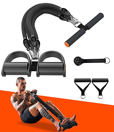 Pedal Resistance Band ,Exercise Bands with Handles, Elastic Sit up Pull Rope for Waist,Arm,Leg Training, Multi Function Rope Equipment for Home Fitness