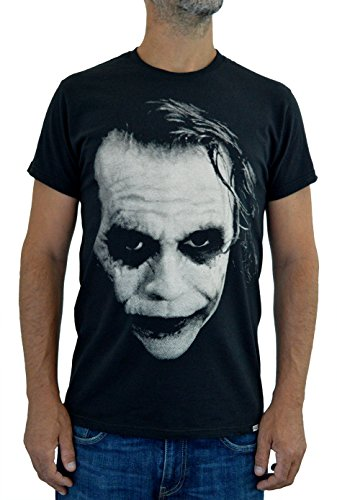 Faces Herren T-Shirt Joker Heath Ledger Handserigraphie mit Wasser (XL Herren)