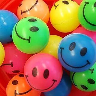 24x Flummi Pelota De Goma Dopsball Smiley Cara Divertida
