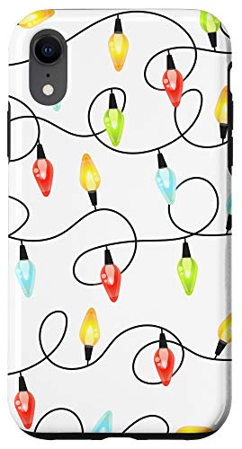 iPhone XR CASE White Colored Christmas Lights Cute Xmas Phone Case