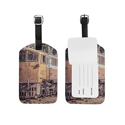 Etichetta bagaglio per bagagli Valigia Motore a vapore Treno Borsa da viaggio in pelle Etichette per indirizzo 1 pezzo