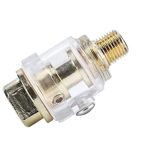 Neumática Lubricador Mini In-Line engrasador lubricador automático Cuarto Puerto Fácil de Usar y no es fácil de daños para el compresor de Aire Tubería de Plata para Herramientas neumáticas
