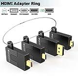 FOINNEX - Anello adattatore HDMI universale, USB C/DP/Mini DP/Mini HDMI a HDMI, con anello di sicurezza