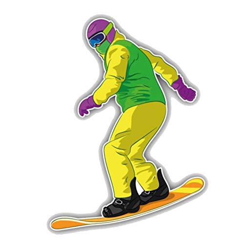 CTMNB Autosticker 11CM*15.2CM Cartoon Snowboarder Schuiven PVC Motorfiets Auto Sticker