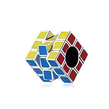 Magic Cube Charm 925 Sterling Silver Autism Awareness Charm Puzzle Charm Love Charm Anniversary Charm for Pandora Charm Bracelet  C