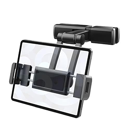 Tablet Halterung Auto, LOCINTE 360° Einstellbar Kopfstützenhalterung für iPad iPhone Serie Smartphone und Tablet mit 4.7~12.3 Zoll