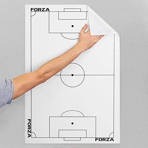 FORZA Hojas Tácticas Adhesivas para Entrenadores de Fútbol – Folios con Plantilla del Campo (Pack de 20)
