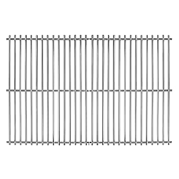 Hisencn Cooking Grates for Grill Master 720-0697 Nexgrill 720-0697E Sunbeam 720-0697 Uniflame GBC091W 17 3/16 inch Stainless Steel Solid Rod Cooking Grids 2 PCS