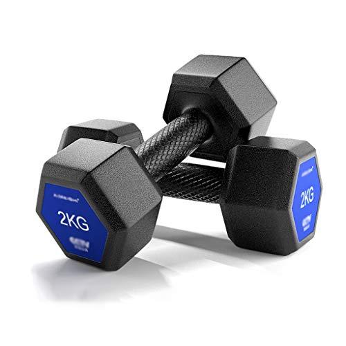 ZZL Mancuerna Aptitud Conjunto Pesas, Pesos Ajustables de Acero sólido Pesas Par Hex Dumbbell Peso for Home Gym Equipment Entrenamientos Fitness (Peso : 4Kg(2Kg*2))