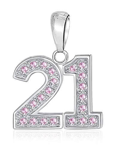 LSDesigns 21 Charm Bead fits Pandora Charms for Women Moments Snake Chain Bracelet - S925 Sterling Silver Happy Birthday 21st
