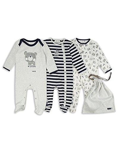 The Essential One - Bebé niños - Oso de Peluche Pijamas - Paquete de 3 - ESS181