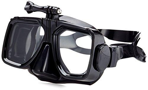 KitVision kvacsubm Submerge Buceo Gafas de Buceo/Snorkel máscara con acción de cámara Soporte Compatible con GoPro Hero, Escape/Splash Negro