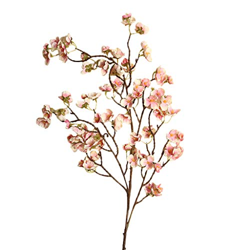 Sylar Flores Artificiales Decoración, Flores Durazno Artificiales, Interior Boda Al Aire Libre Acción de Gracias Cena Fiesta Chimenea Decoración Navideña, 97cm