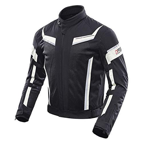 DNJKH Chaqueta Protectora para Motocicleta para Hombre, Chaqueta de Malla Transpirable Estilo Motero Ropa
