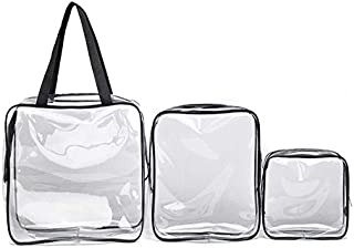 Mayshow Toiletry Bag Clear Transparent Waterproof Makeup Bag Waterproof Shower Wash Bags Organiser Travel Storage Bag Pouch,PVC,Single Trumpet