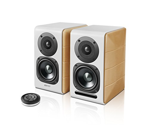 EdifierS880DB高級Bluetoothアクティブスピーカー2.0-ブックシェルフスピーカーUSBワイヤレパワードススタジオモニタースピーカー音楽ゲームコンピュータテレビスピーカーオシャレ臨場感満点スピーカーセットリモコン付き
