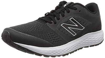 New Balance Men's 520v6 Road Running Shoe, Black Black White, 9 UK