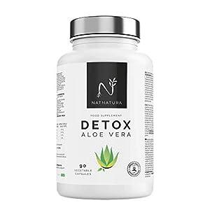 Detox adelgazante potente. Plan detox a base de Aloe Vera e Hinojo para eliminar toxinas y limpieza de colon. 90 cápsulas vegetales. NATNATURA HEALTH & BEAUTY