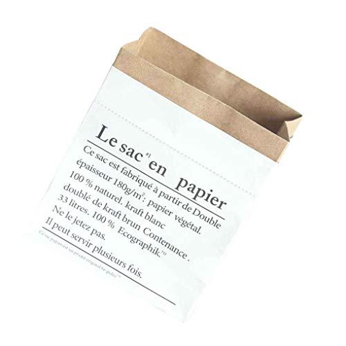probeninmappx Pequeño tamaño Grande de Capas Dobles Kraft Paper Bag Plantas del florero para niños Juguetes Libros Misceláneas Organizar luandry Cesta