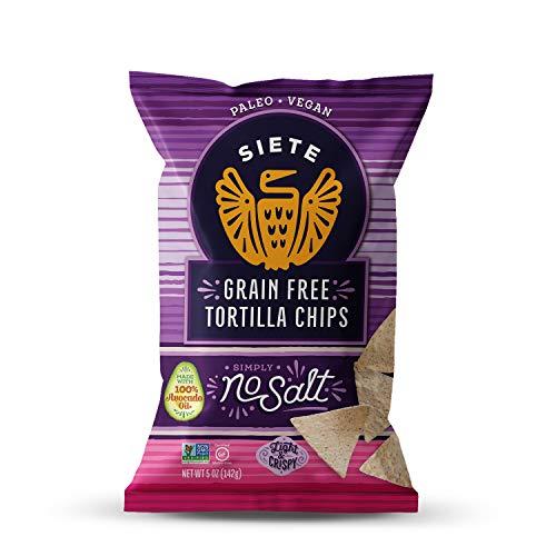 Siete No Salt Grain Free Tortilla Chips, 5 oz bags, 6-Pack