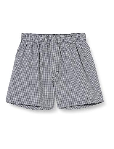 Sanetta Jungen super Black Nichts für Kleinkarierte Bequeme Webshorts im klassischen Karo-Look aus 100% Baumwolle, schwarz, 164
