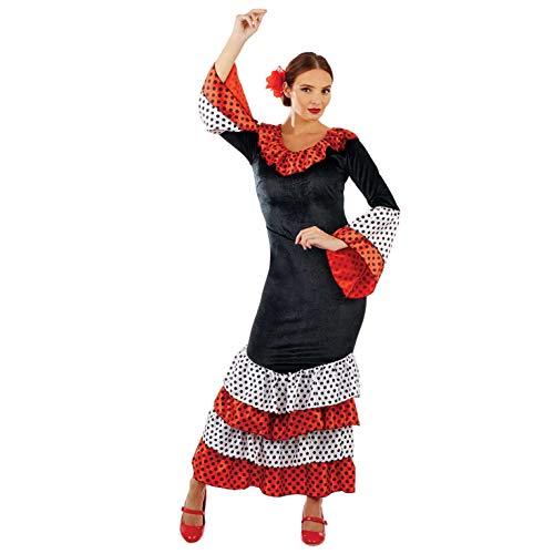 Fun Shack Negra Bailarina De Flamenco Disfraz para Mujeres - L
