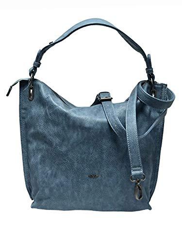 Fritzi aus Preussen Philippa - Borse a spalla Donna, Blu (Dusty Blue), 10x29x31 cm (W x H L)