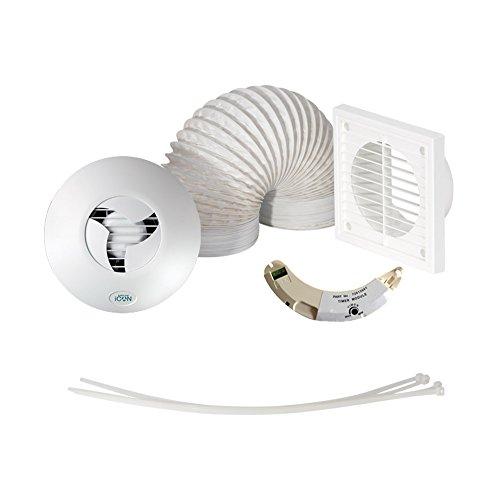 Airflow TSHWKT 15 Timer Badezimmer Dusche Kit Run-auf Abluftventilator