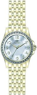 Clyda - CLA0607HBBX - Montre Femme - Quartz Analogique - Cadran Blanc - Bracelet Métal Doré