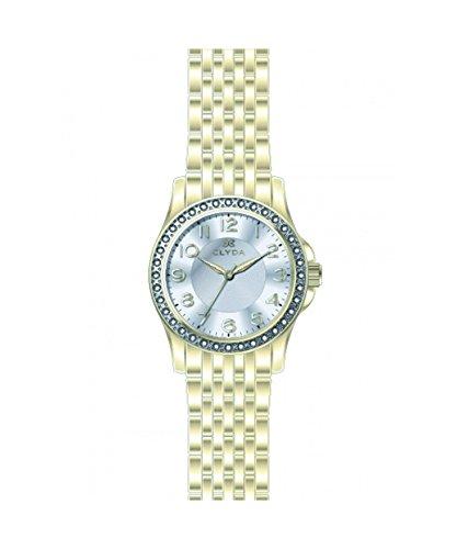Clyda CLA0607HBBX - Reloj de Pulsera Mujer, Metal, Color Dor