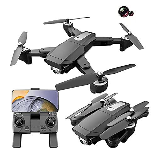 Drone avec double caméra 6k, drone pliable pour enfants et adultes, hélicoptère à quatre axes adapté aux débutants, maintien en hauteur, suivez-moi, garçon, fille et adulte, cadeau de jouet télécomma