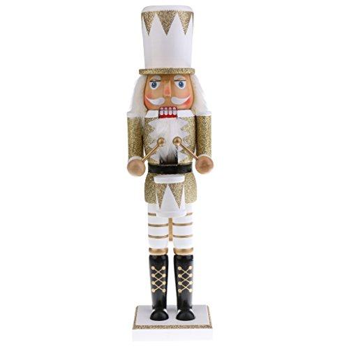 Sharplace 38CM Casse-Noisette en Bois Figurine Batteur Décorations Maison Cadeau Anniversaire Noël Fête pour Enfant Famille Amis