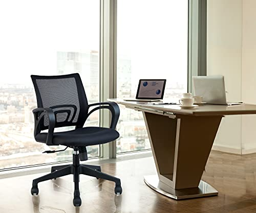 INNOWIN Low Back Breathable Mesh Chair for Home & Office (Black; Pine)