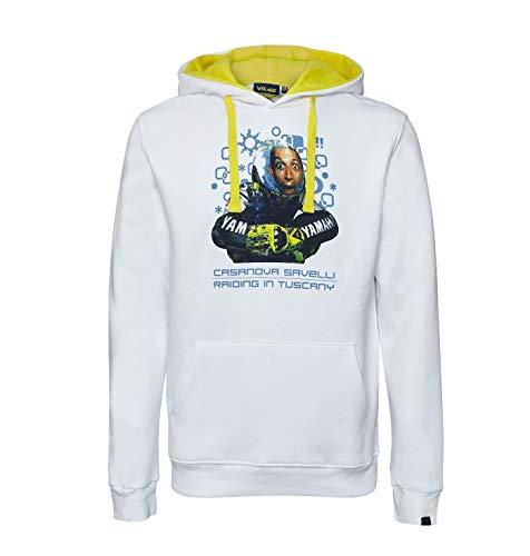 Valentino Rossi MotoGP Bild Herren Sweatshirt Hoodie weiß, Herren, weiß