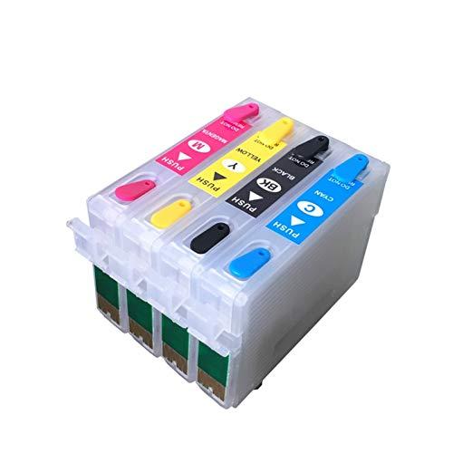 WSCHENG Cartucho de Tinta Recargable para EPSON XP-410 XP-310 Impresora CISS 200XL 200