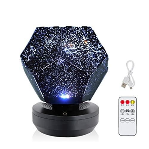 MMZB Luce Notturna del Cielo Stellato USB, proiettore a LED Rotante Regolabile 3 Colori, Controllo remoto e Progettazione del Timer, Migliore per Bambini Camera da Letto e Decorazioni per Feste
