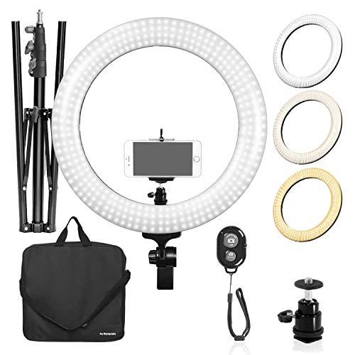 LimoStudio LED Ring Light 18-inch Diameter...