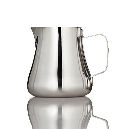 ESPRO Toroid Stainless Steel Milk Frothing and Steaming Pitcher, 12 Ounce