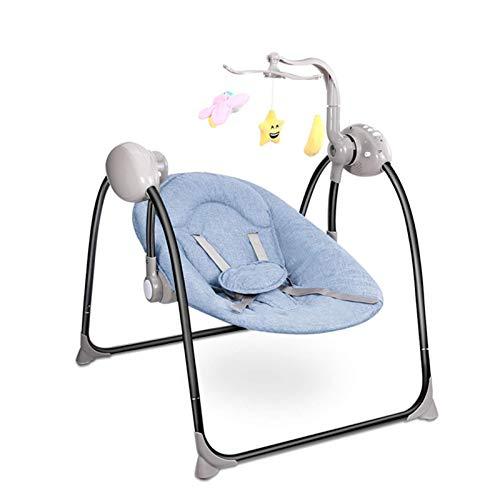 GTBF Baby Electric Rocking Silla Cuna de bebé con música y munición de Control Remoto, Adecuado para Silla de Swing de recién Nacido