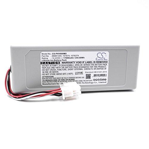 vhbw Li-Ion Akku 17000mAh (14.4V) passend für Medizintechnik, Beatmungsgerät Philips V60, V60S