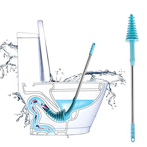 PSATO WC Plunger Unclogging Drain Clog Remover Badezimmer Dredge Werkzeug mit Edelstahl Griff für Verstopfte Siphon Toilette