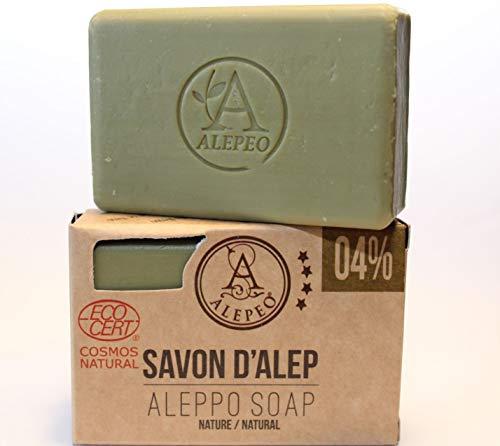 Alepeo Olivenölseife Natur mit 4% Lorbeeröl (100g PcK)