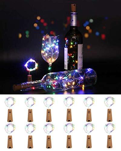 [12 Pack] Bottle Lights, kolpop Cork Lights for Wine...