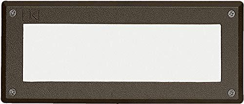 Kichler 15074AZT, Landscape 12 Volt Low Volt Step Landscape Deck Lighting Fluor, Bronze